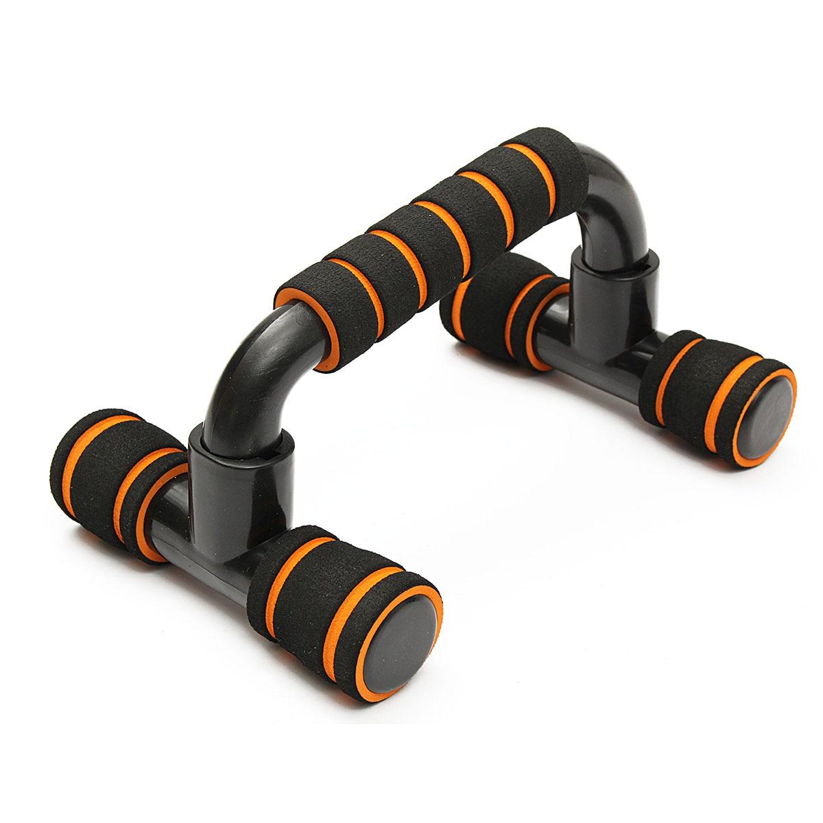 1 par de fitness push up barra levanta-se push up barra de peito i-tipo alças mão esponja aperto barras ginásio treinamento muscular para musculação