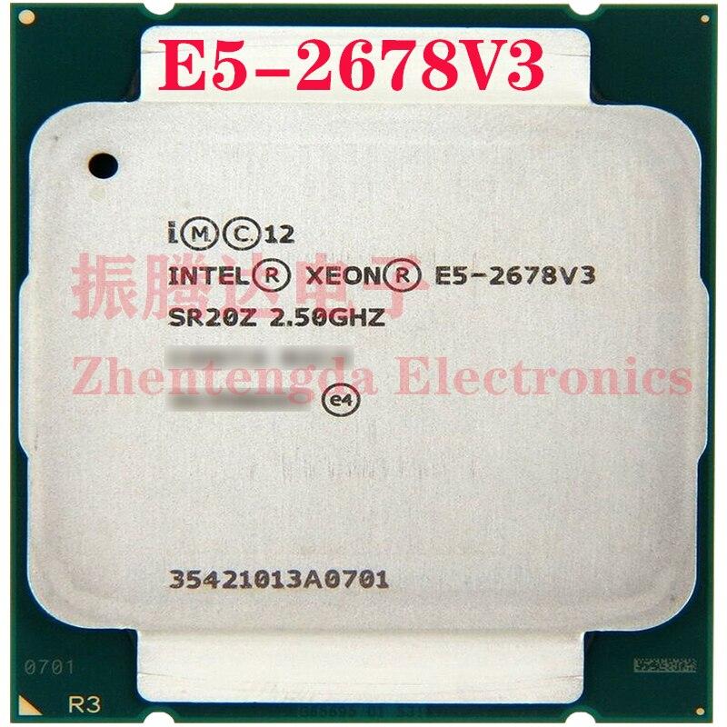 Intel Xeon E5-2678 v3 Processor 2.5GHz 30MB 12 Core 24 Threads LGA 2011-v3 E5-2678v3 CPU Processor