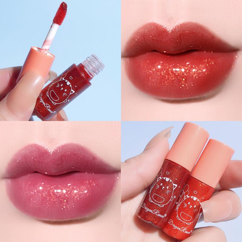 Mini 10-color Shiny Moisturizing Lip Gloss Waterproof Non-stick Non-discoloring Long Lasting Summer