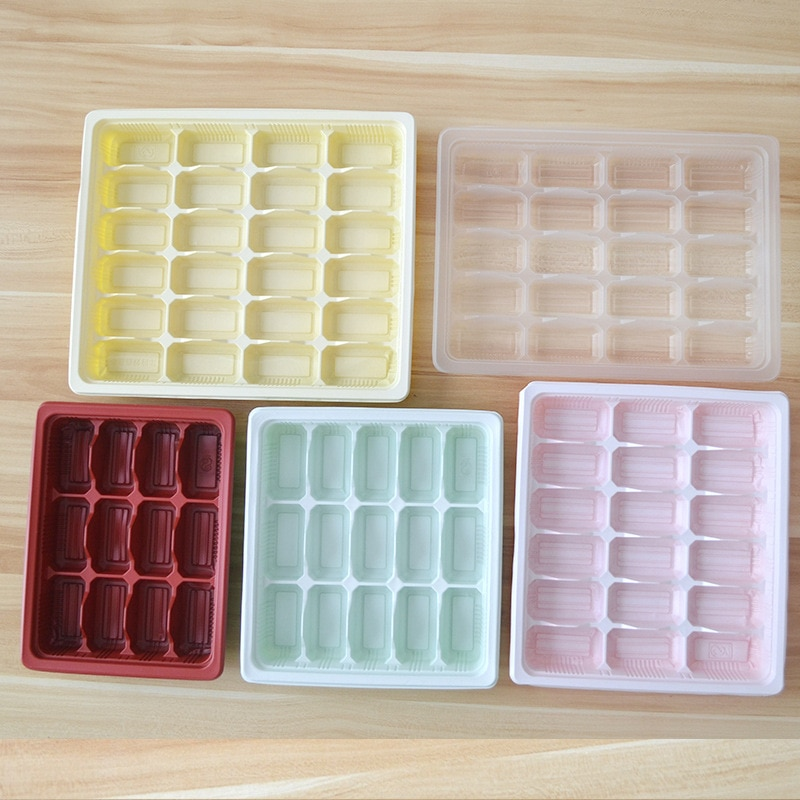 100 Uds caja de dumpling de plástico desechable microwavable con tapa envase de embalaje