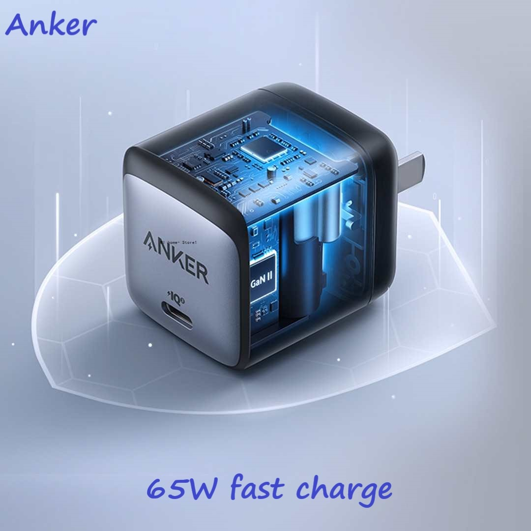 Зарядное устройство USB C, зарядное устройство Anker Nano II 65 Вт, быстрая зарядка GaN 45 Вт/30 Вт для iPhone 12/12 mini/12 Pro/12 Pro Max/11, Pixel 4/3, iPad Pro