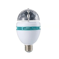 E27 led rgb bulbo 6w 3 110v 220v colorido auto rotativa projetor de cristal led luz palco bola mágica dj festa discoteca efeito lâmpada