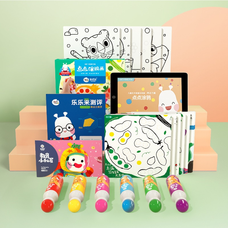 Early Knowledge Education Painting Set Creative Enlightenment Puzzle School Book Children Watercolor Coloring Kids Hand-Drawing