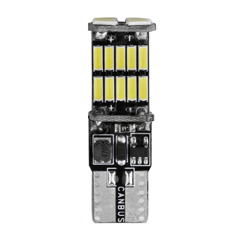 1 Pza T10 W5W Luz de aparcamiento de coche LED de alta calidad luz Interior del coche 4014 26SMD Canbus No Error lámpara de cúpula del coche cuña bombillas laterales de cola