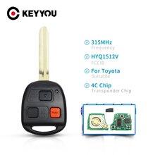 KEYYOU Автомобильный ключ дистанционного управления 315 МГц 4C Чип HYQ1512V для Toyota Land Cruiser 1998 1999 2000 2001 2002 89070 60090 TOY43 Blade
