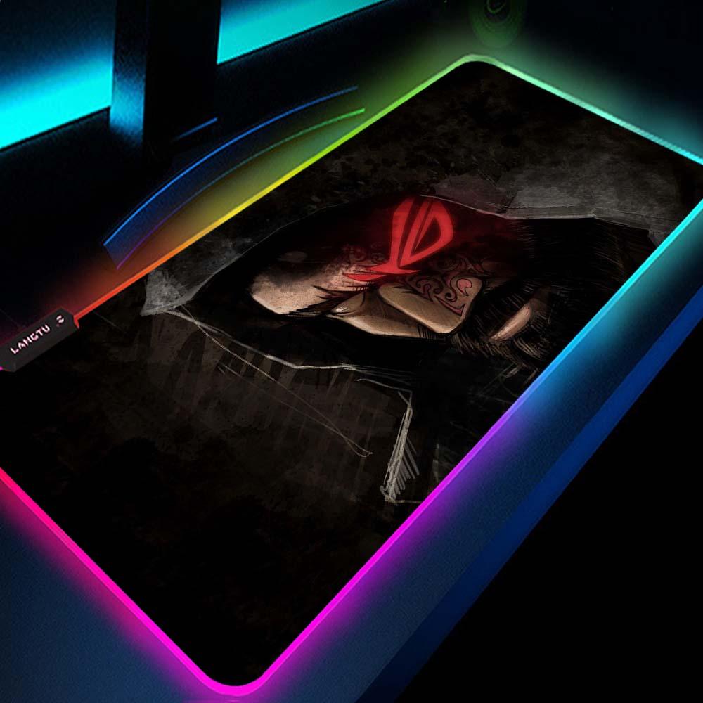 Asus-لوحة ماوس Rog Republic of Gamers ، ملحق ألعاب Xl Rgb ، إضاءة خلفية Led للكمبيوتر الشخصي ، كمبيوتر محمول