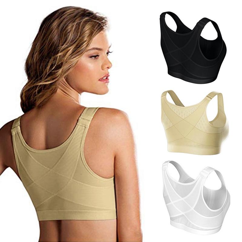 مصحح الوضعية رفع البرازيلي النساء للصدمات الرياضة دعم قميص لياقة بدنية حمالات الصدر ملابس داخلية جيدة التهوية الصليب عودة مشد الصدرية S-5XL