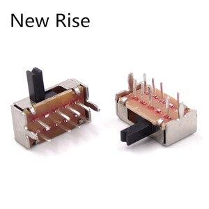500Pcs SK23D07 8 Pin PCB 3 Position 2P3T DP3T Miniature Slide Switch Side Knob SK23D07VG5 Handle high 5mm