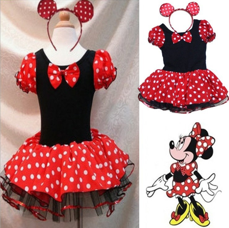 Free Shipping Sweet Purple Minnie Mouse Cosplay Girls Halloween Costume for Kids Fancy Dress Children princess ballet Dress