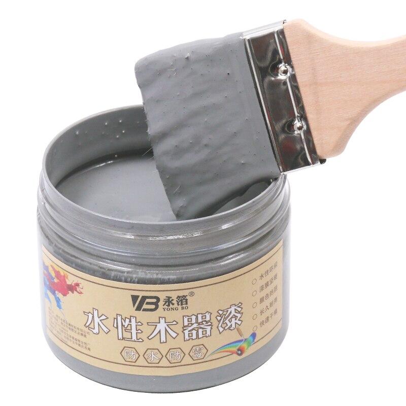 Laca acrílica gris mediana, barniz de madera a base de agua, resistente al agua, 250g para artesanía, piel de vidrio
