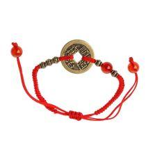 Pulseras Feng Shui I Ching moneda antigua Kabbalah cordel rojo atraen la suerte riqueza