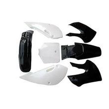 Kit de couverture de garde-boue en plastique   Noir + blanc adapté à Kawasaki KLX110 KX65 Pit Bike moto