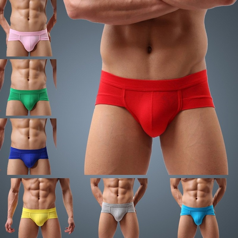 Brand Underwear Mesh Qucky-Dry Sexy Men Modal Briefs Breathable Mens Male low waist Panties Underpan