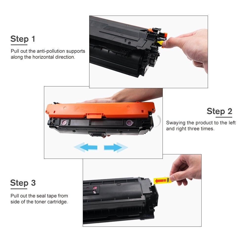 CompatibleToner Cartridge Replacement for 508X 508A CF360X CF360A CF361X CF362X CF363X HP Color LaserJet Enterprise M553dn enlarge