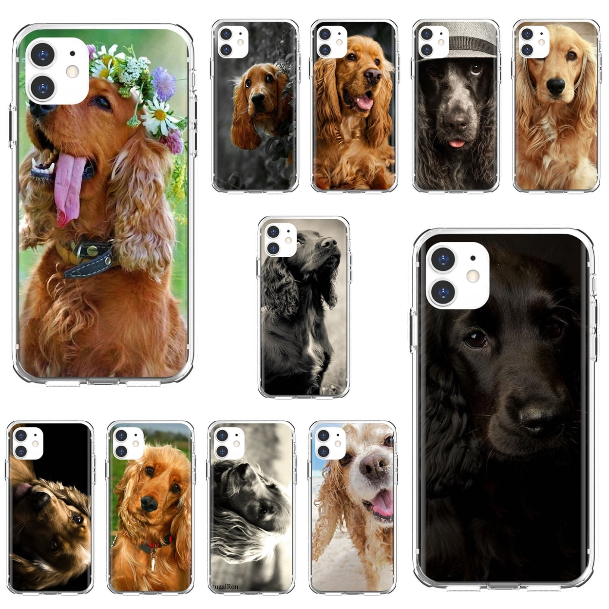 Silicone Cover Cocker-Spaniels-dog-puppies-Poster For Xiaomi Redmi 2 S2 3 3S 4 4A 5 5A 5 6 6A 7A 9 9