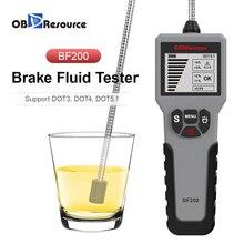 Цифровой тестер тормозной жидкости DOT3 DOT4 DOT5.1 Детектор содержания воды Экранный дисплей Универсальный зонд OBDResource BF200 Ремонт автомобилей