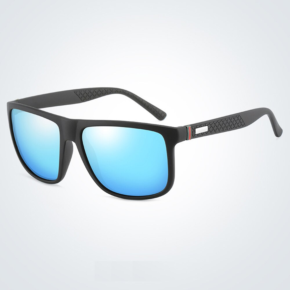 2021 Mens Polarized Sunglasses Fashion Blue Mirror UV400 Driving Glasses for Men With Box