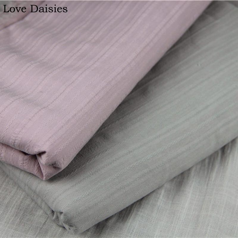 100% Марля из хлопка, белая, розовая ткань в полоску Добби для ручной работы, летняя кукольная рубашка, юбка, платье, блузка, топ, шарф, ткань