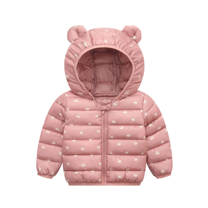 Baby Girls Hooded Down Jackets For Kids Coats Autumn Boys Cartoon Warm Jacket Coat Jacket Toddler Girl Zipper Jacket Outerwear