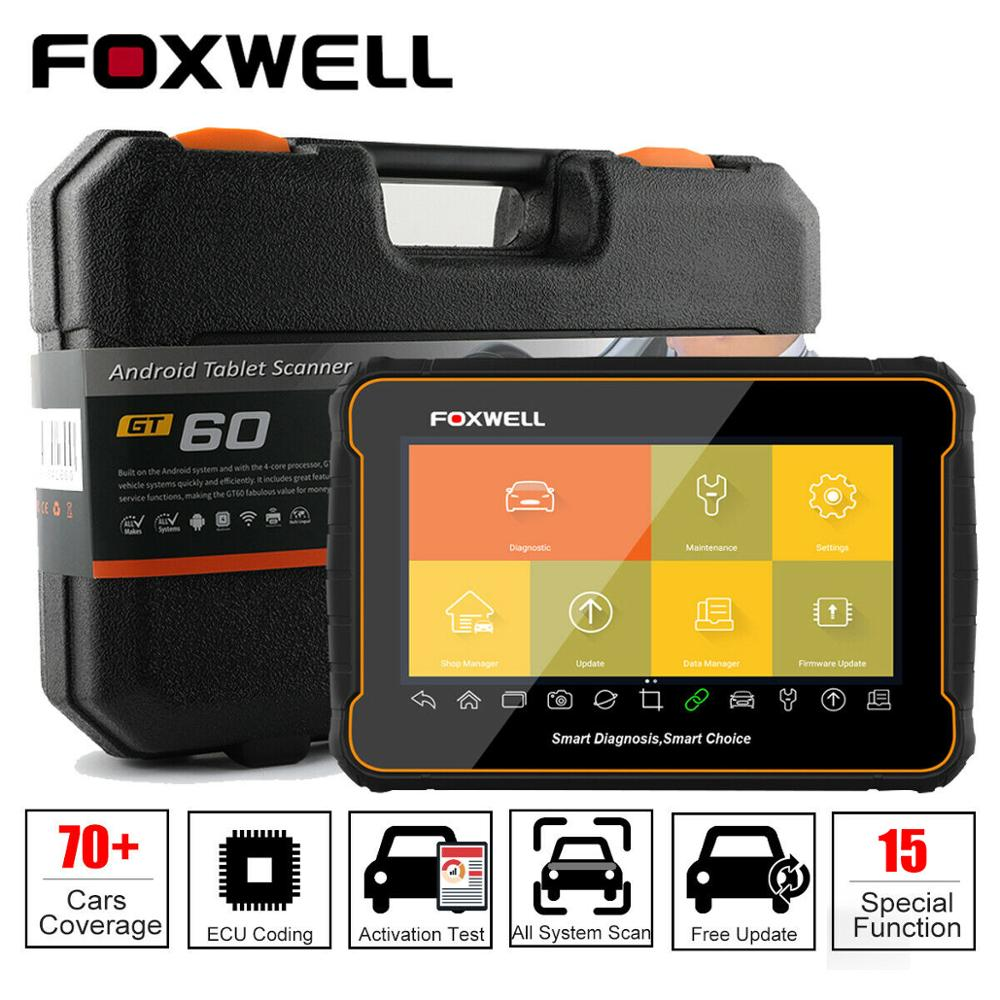 Foxwell gt60 plus automotivo todo o sistema ferramenta de diagnóstico sas epb dpf injector teste ativo profissional obd2 scanner leitor código