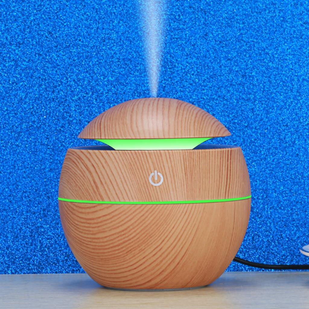 Humidificador de aire con USB, difusor aromático eléctrico para oficina, hogar, habitación de bebé, dormitorio, yoga, spa, 130ML