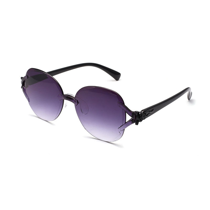 Hot Sunglasses Women Luxury Brand Designer Vintage Rimless Clear Lens Sun Glasses Female Punk Trend