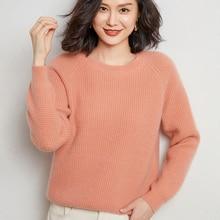High-End-2020 Heiße Verkäufe Kaschmir Pullover Frauen Pullover Mode O-Hals Einfarbig Lange Hülse S-XXL Gestrickte jumper