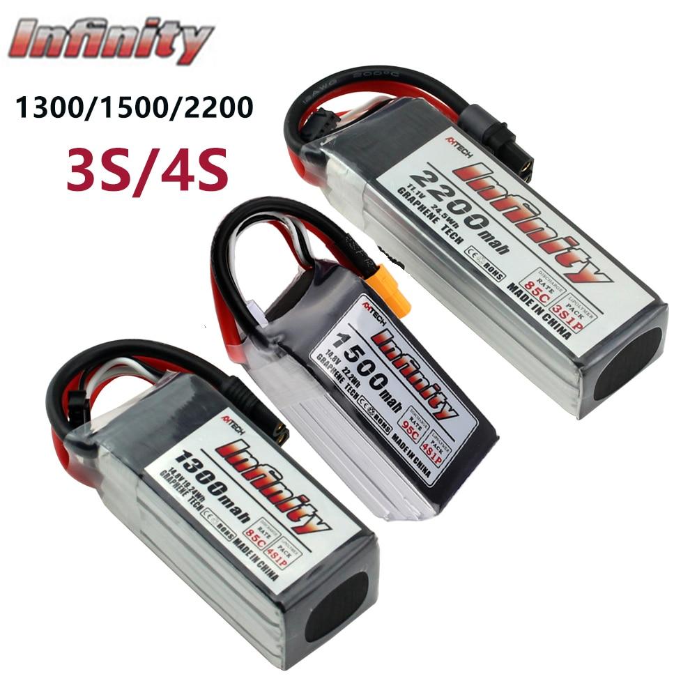 Infinito 3S 4S LiPo batería de 2200mah 1300 1500mAh 95C SY60/ XT60 conector grafeno para RC Quadcopter Dron recargable de la batería