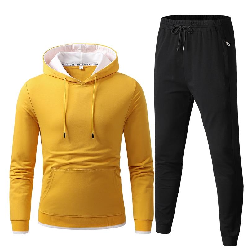 Conjunto de ropa deportiva para hombre de Sudadera con capucha y pantalones...