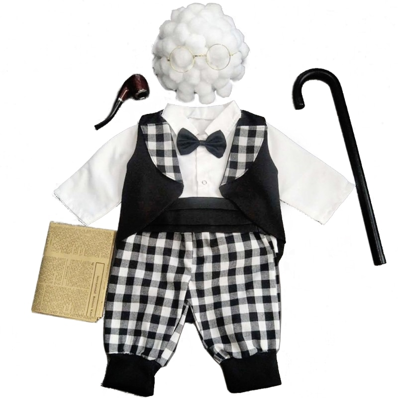 Newborn Photography Props Cosplay Grandma Hat Baby Photo Shooting Clothes Outfit