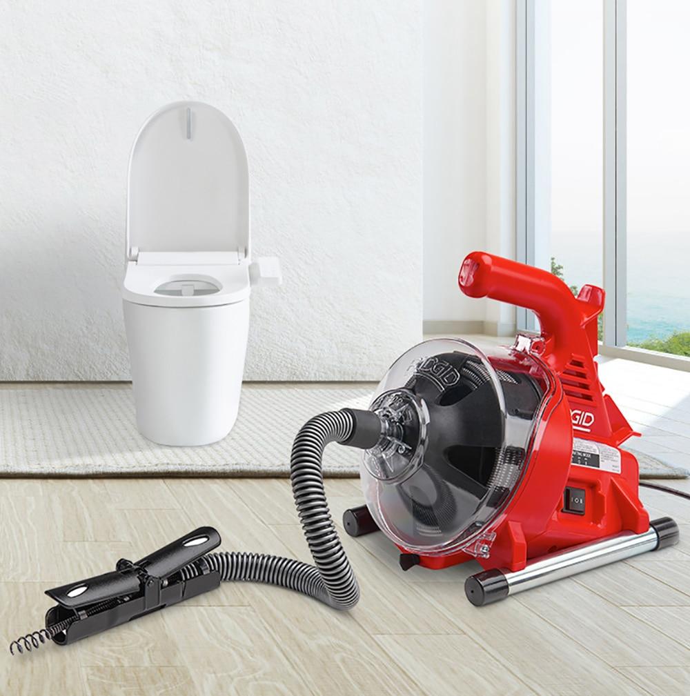 220V Autofeed Elektrische Kanalisation Rohr Baggerarbeiten Maschine Wc Küche 19-28MM Rohr Reinigung Maschine Rohr Bagger Ablauf reiniger 120W
