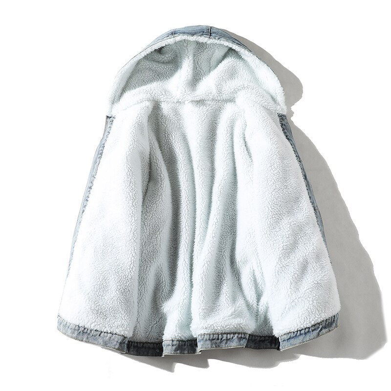 BOLUBAO Winter Cowboy Jackets Men Fur Warm Thick Cotton Hooded Parkas Casual Fashion Warm Coats Male