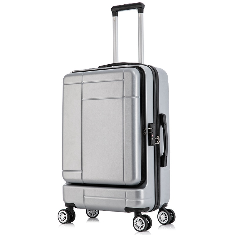 New Bussiness Suitcase 20/24 Inch with Front Cover Male and Female Luggage Box Students Travel Trolley Case with Zipper Password