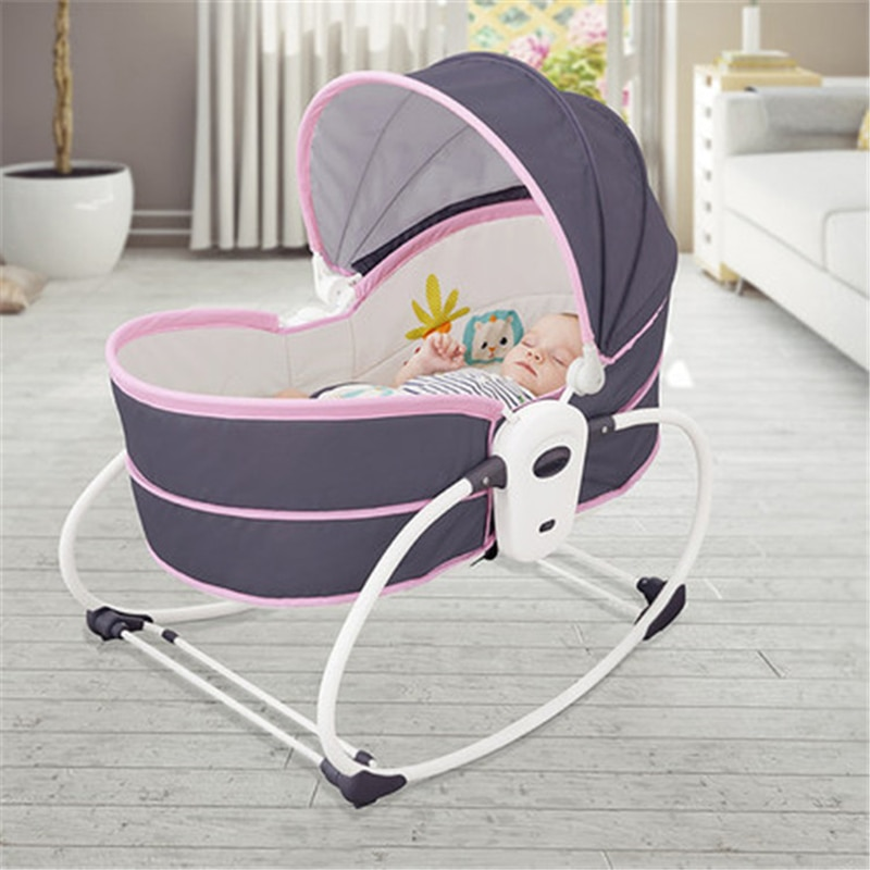 Baby Electric Cradle Baby Rocking Chair with Vibration Smart Bed In Bed Crib Crib Can Lift Foldable Multifunctional Baby Cradle enlarge