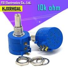 1 pces 3590s-2-103l 3590 s 10 k ohm 3590s-2-103 3590s-103 precisão multiturn potenciômetro 10 anel resistor ajustável