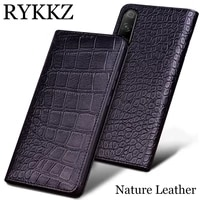 rykkz genuine leather case for huawei honor 9x ultra thin flip cover handmake leather cases for huawei honor 9x pro 8x max