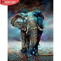 huacan 5d diy diamond mosaic embroidery elephant diamond painting full drill square animal needlework art home decoration