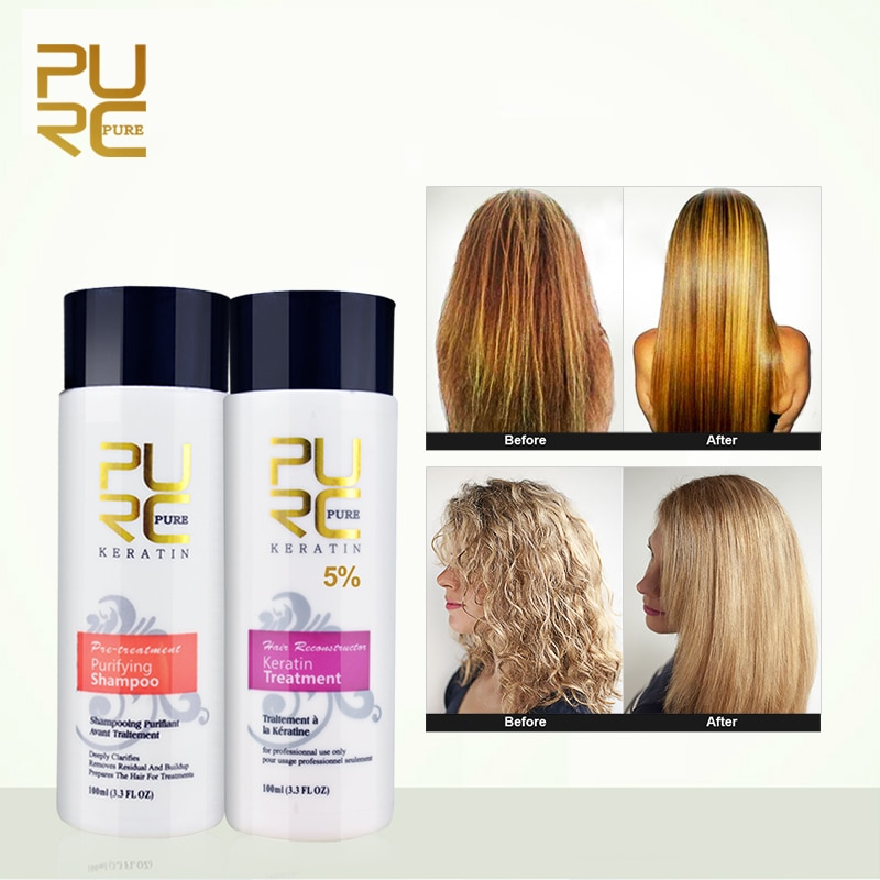 Purc Straightening Hair Repair And Straighten Damage Hair Products Brazilian Keratin Treatment + Pur