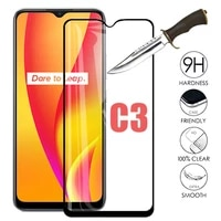 3pcs for oppo realme c3 real me c3 safety protective glass phone screen protector on oppo realmec3 c 3 full cover tempered glass