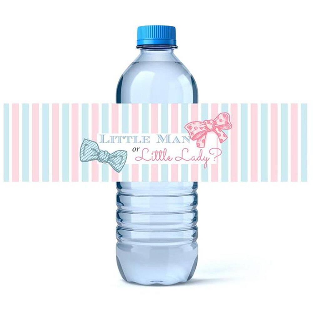 Personalizado Baby Shower agua pegatinas para etiquetar botellas personalizado niño o niña género Reveal fiesta botellas de agua etiquetas-48 pegatinas