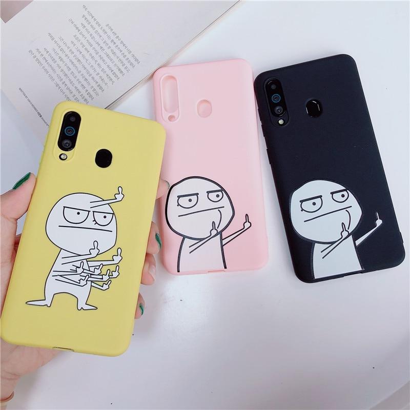 De dibujos animados suave del teléfono de silicona funda para Samsung Galaxy M10 M20 M30 M40 A10 A20 A30 A40 A50 A60 A70 A80 A6 A8 A7 J4 J6 J8 2018 cubierta