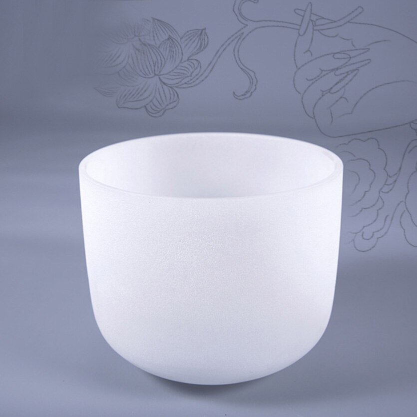 BATESMUSIC Frosted Crown Chakra Quartz Crystal Singing Bowl 7 inch mallet C/D/E/F/G/A/B Note enlarge