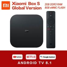 Original Globale Xiaomi Mi TV Box S 4K HDR Android TV 8,1 Ultra HD 2G 8G WIFI google Cast Netflix Set top Mi Box 4 Media Player