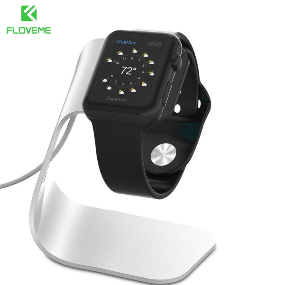 FLOVEME Metal Aluminum Charger Stand Holder for Apple Watch Bracket Charging Cradle Stand for Apple