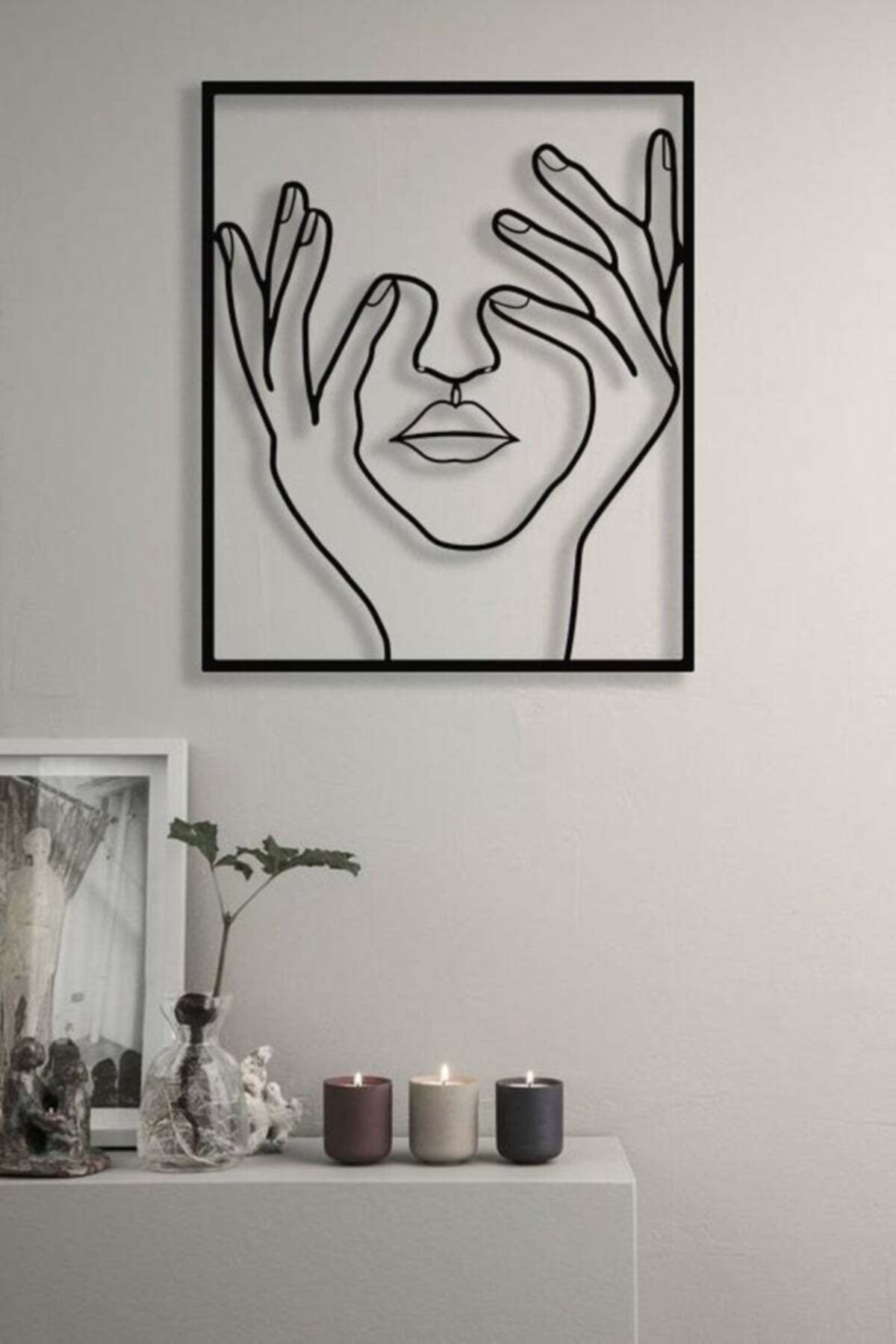 Your eyes Have Closed Women S Table, wall decoration modern home decoration, aesthetic room decor Nordic