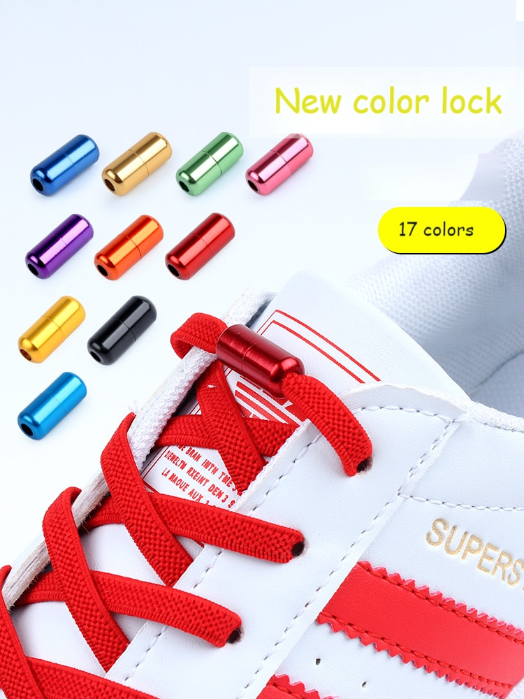 AliExpress - Elastic No Tie Shoe laces Without ties Shoelaces for Sneaker Colorful Lock Shoelace Lazy Laces Shoe One Size Fits All Kids Adult