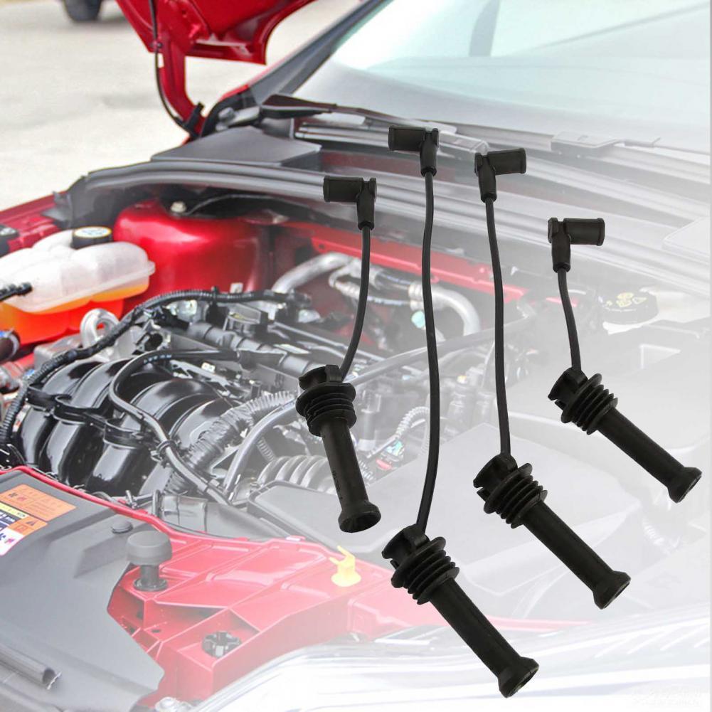 50% Wholesales 4Pcs/Set Spark Plug Wire Set Heat-resistant High Conductivity PVC Engine Ignition Wire Set 1335369 1335371 for Fo onesimus ignition cable set oem 90919 21557 high quality spark plug wire set for toyota