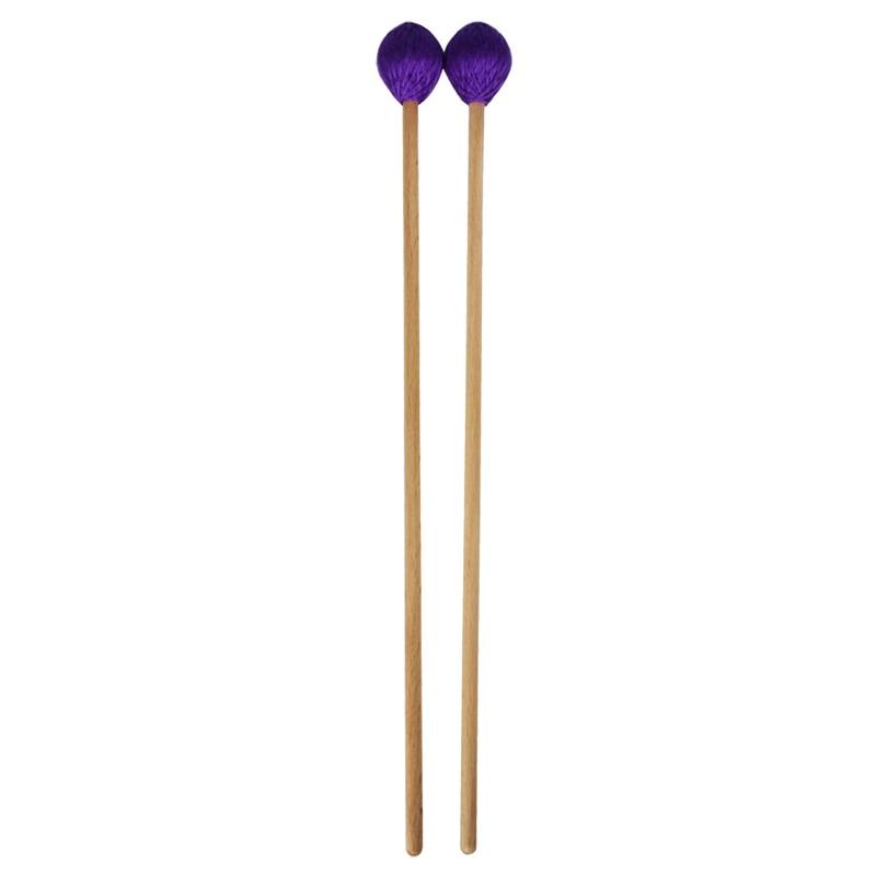 Mazos de palo de Marimba medio mazo de Glockenspiel Xylophone con mango de haya Kit de percusión de instrumentos musicales accesorios Malle