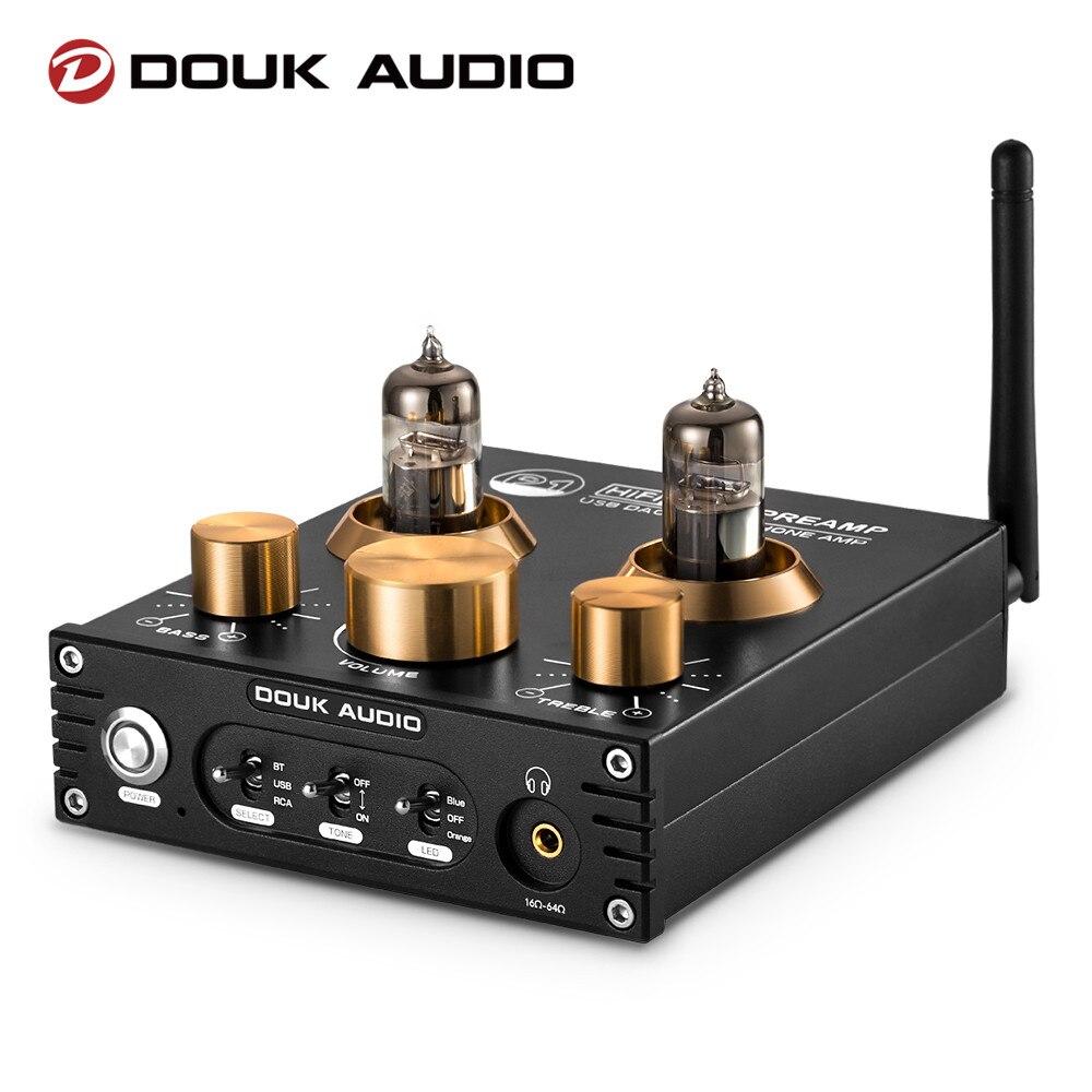 Douk-مضخم صوت أنبوب فراغ P1 HiFi ، مستقبل صوت Bluetooth 5.0 ، USB ، DAC ، سماعة رأس ، Amp APTX