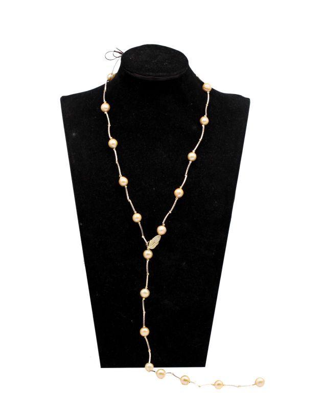 Collar perla Edison collar perla redonda 9-12mm perla de agua dulce color natural 36 pulgadas